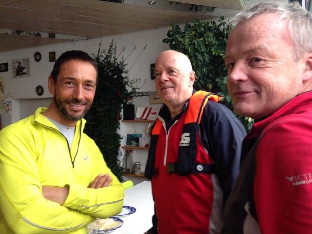 Die Ruderer vom RCK beim Besuch am 1.1.16 im Ruderverein Neptun in Konstanz
